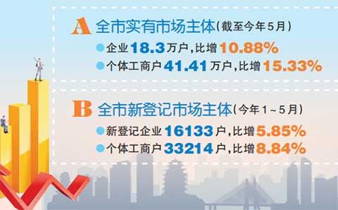 2019惠州工商注册前五月数据